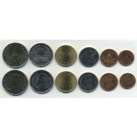 Тайланд набор 6 монет UNC