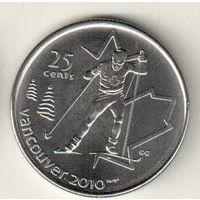 Канада 25 цент 2009 XXI зимние Олимпийские Игры, Ванкувер 2010 Лыжные гонки
