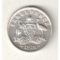 Австралия 3 пенс 1928