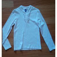 Пуловер школьный белый 134 Свитанок Fishka