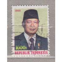 Известные люди личности Президент Сукарто Индонезия 1988 год лот 1012