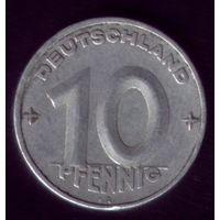 10 пфенников 1950 год Германия