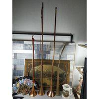 Охотничий рог труба борзятника горн медь латунь цена за 1