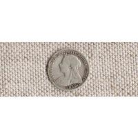 Великобритания 3 пенса 1899 Виктория(Sp)