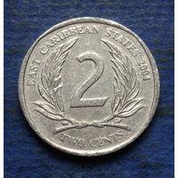 Карибы (Карибские острова) 2 цента 2004