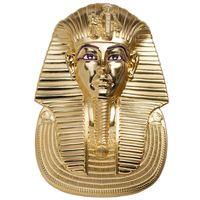"""RARE Палау 20 долларов 2018г. """"Маска Тутанхамона 3D"""". Монета в подарочном футляре; номерной сертификат; коробка. СЕРЕБРО 93,311гр.(3 oz)."""