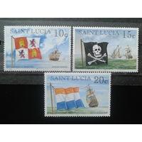 Сент-Люсия 1998 Корабли и флаги**