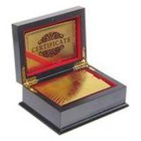 Карты игральные пластик колода 54 шт 500 евро золото в шкатулке