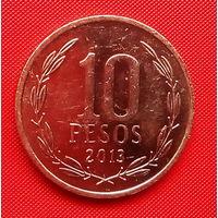 51-37 Чили, 10 песо 2013 г. Единственное предложение монеты данного года на АУ
