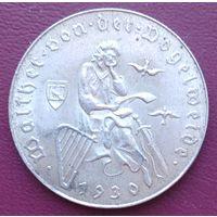 Австрия 2 шиллинга 1930, серебро, патина