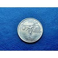 США. 25 центов (квотер, 1/4 доллара) 1999 D. Пенсильвания. (2).