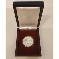 Футляр для 1 монеты 1 руб. CuNi или 10 руб., Ag с капсулами 37.00 mm деревянный