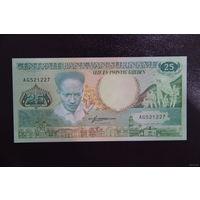 Суринам 25 гульденов 1988 UNC