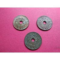 """Голландская Ост-Индия 1 цент, 1945 полный комплект """"D"""" - Денвер+""""P"""" - Филадельфия+""""S"""" - Сан-Франциско с 1 копейки без минимальной цены -9-490"""