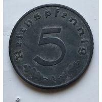 "Германия - Третий рейх 5 рейхспфеннигов, 1940 ""A"" - Берлин 4-10-19"
