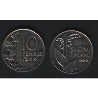 Финляндия km65 10 пенни 1993 год (M) (f35)