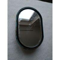 Наружное зеркало заднего вида овальное плоское для автомобилей ГАЗ-52-02, 53А, 5312, 66. СССР, вторая половина прошлого века.