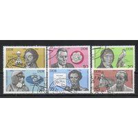 Деятели культуры и науки ГДР 1980 год серия из 6 марок
