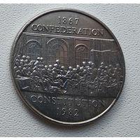 Канада 1 доллар, 1982 115 лет конституции Канады 7-4-8