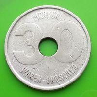 Игровой жетон 30 WAREN GROSCHEN - MERKUR (ГЕРМАНИЯ)