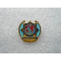 Знак нагрудный. International Police Association. Казахстан. Эмблема логотип полиция. Латунь цанга.