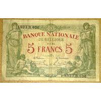 5 франков 1921г. -редкая-