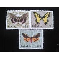 Латвия 1996 бабочки полная серия