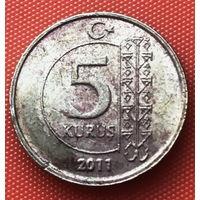 02-02 Турция, 5 курушей 2011 г.