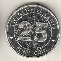 Зимбабве 25 цент 2014