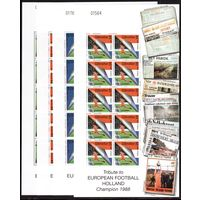 Гибралтар-2000,(Мих.909-913)  ** 4 м/л ,Спорт, Футбол