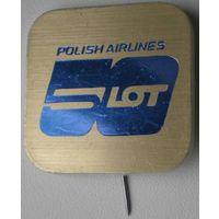 """Значок-булавка """"Polish Airlines. LOT 50 лет"""""""