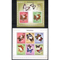 Гвинея-Бисау Бабочки и цветы Блок и Мал лист st
