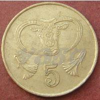 6128:  5 центов 1985 Кипр