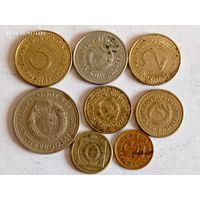 Монеты Югославии с рубля.