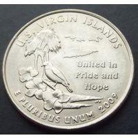 США. 25 центов. Virgin islands 2009 /D/