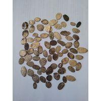 Сборный лот чешуи. 75 штук из старой коллекции. От Василия 3 до Петра 1.