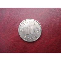 10 аурар 1969 год Исландия