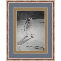 Старый рисунок, карандаш, космонавт 90-е