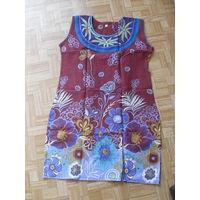 Платье летнее. ХЛОПОК индийский 100%.  НОВОЕ ( S-M )