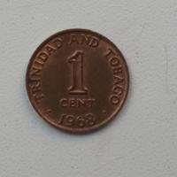 1 цент 1968 г. Тринидад и Тобаго