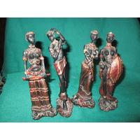 Скульптура Африканские женщины 4 шт.высота 17 см.