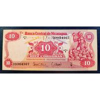 РАСПРОДАЖА С 1 РУБЛЯ!!! Никарагуа 10 кордоба 1979 год UNC