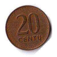 Литва. 20 центов. 1991 г.