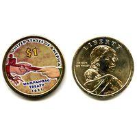 США ЦВЕТНОЙ доллар 2011 САКАГАВА NEW АЦ UNC