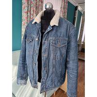Джинсовая куртка (джут) на меху 50-52 р