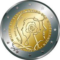 2 евро 2013 Нидерланды 200 лет Королевству Нидерландов UNC  из ролла