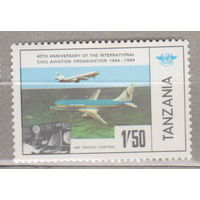 Авиация самолеты Танзания  1984 год лот 3 ЧИСТАЯ