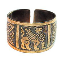 Перстень с изображением грифона