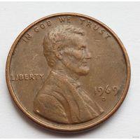 1 цент 1969 D
