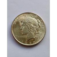 США, 1 доллар 1922 /PEACE DOLLAR/ AU/UNC  (серебро)